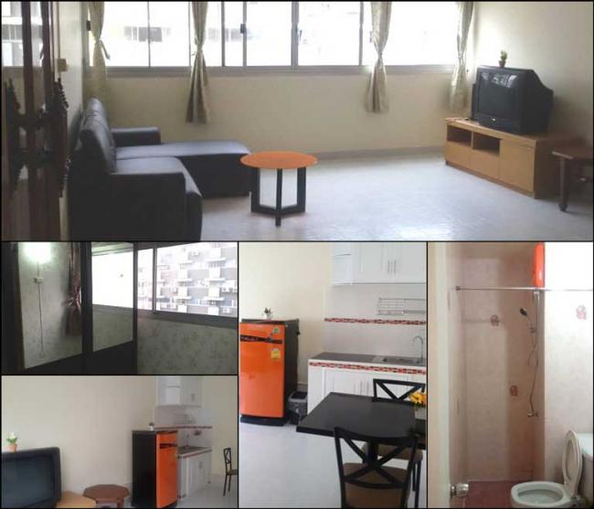 ให้เช่าห้อง   ห้องขนาดกลางด้านนอก อาคาร P2 ชั้น 12
