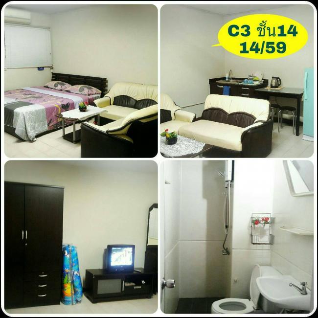 ให้เช่าห้อง   ห้องขนาดกลางด้านนอก อาคาร C3 ชั้น 14