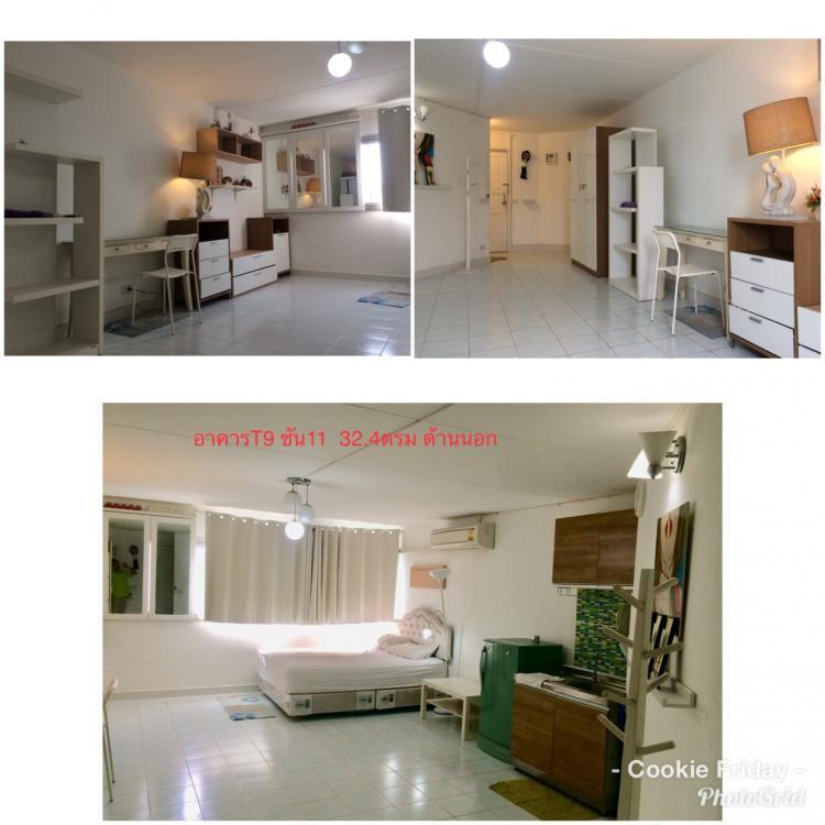 ให้เช่าห้อง   ห้องเล็กด้านใน อาคาร T9 ชั้น 11