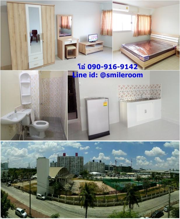 ให้เช่าห้อง   ห้องเล็กด้านนอก อาคาร T4 ชั้น 5