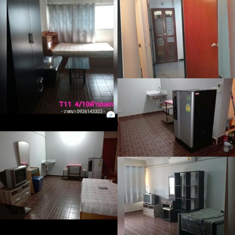 ให้เช่าห้อง   ห้องเล็กด้านนอก อาคาร T1 ชั้น 4